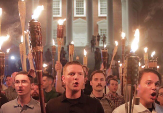 Internet mocks white supremacists and their Polynesian tiki torches 'from mom's patio'