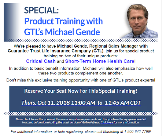 SPECIAL EVENT: Product Training with GTL's Michael Gende - GoldenCare Agents