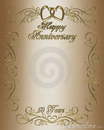50th Anniversary Invitation Border Royalty Free Stock