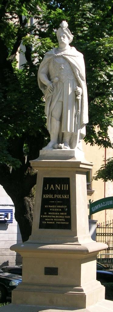 A statue of Jan III Sobieski in Prezmyśl (South-East Poland).