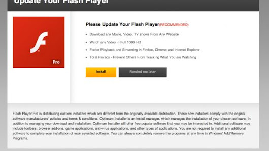 Eliminar el mensaje WARNING! Your Flash Player may be out of date