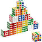 20 Pack Mini Magic Cube 3x3 Set, 1.35 inches Speed Cube Puzzle for Kids, Children, Adults, Party Favors, Anti Stress Toy, Brain Teaser