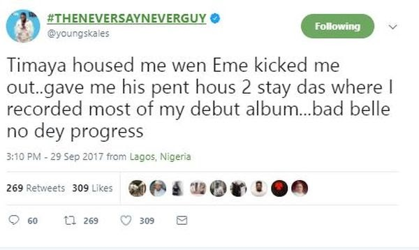 """""""Timaya Accommodate Me When Banky W Kicked Me Out Of EME"""" – Skales"""