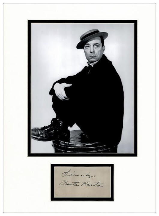 Buster Keaton Autograph Signed Display