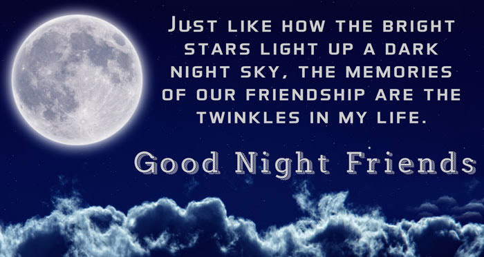 Special 35 Good Night Quotes For Friends Wikirote