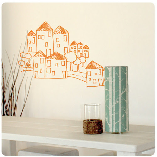 houses wall sticker/decal