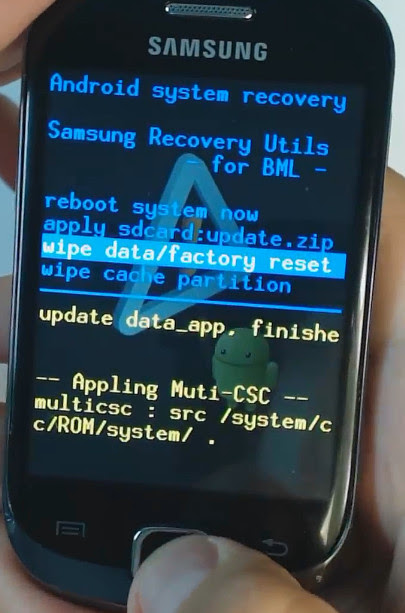 hard reset Samsung Galaxy Fit S5670 Wit