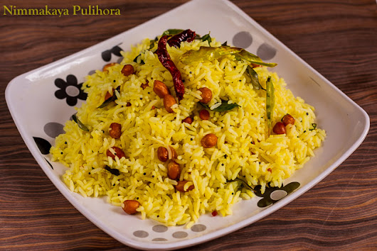 How to Make Nimmakaya Pulihora - Lemon Rice Recipe Andhra