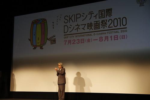 Yoji Yamada before the screening of Yellow Hankerchief