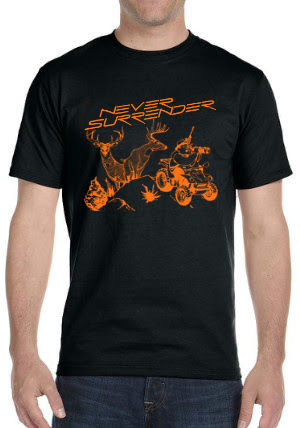 Deer Hunting Shirt (Orange on Black Shirt)