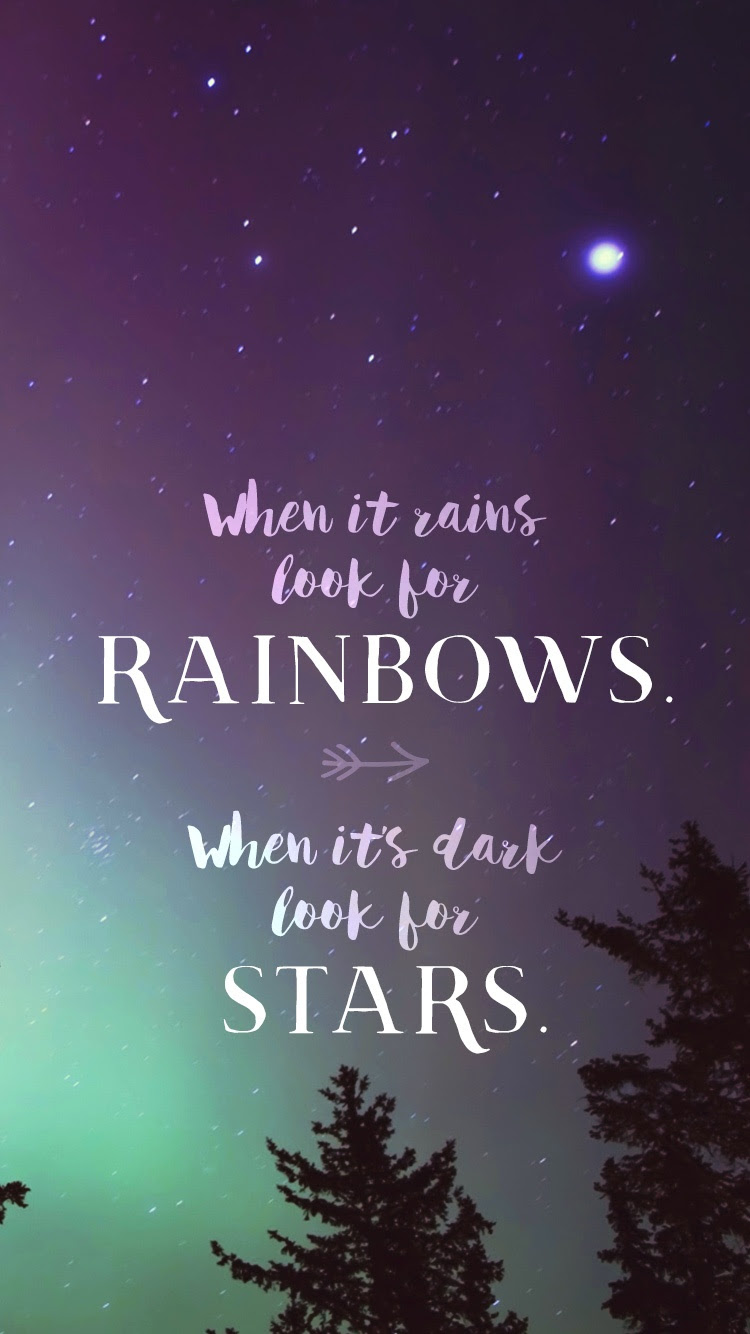 When it Rains Look for Rainbows  Phone Wallpaper and Mobile Background