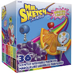 Mr. Sketch Scented Washable Markers - Classroom Pack, Broad Chisel Tip, Assorted