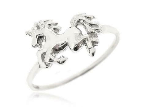 Sovats Unicorn Ring 925 Sterling Silver Horse Ring Fantasy