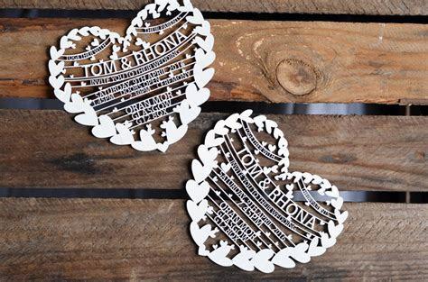 bespoke custom laser cut wedding invitations by laura m