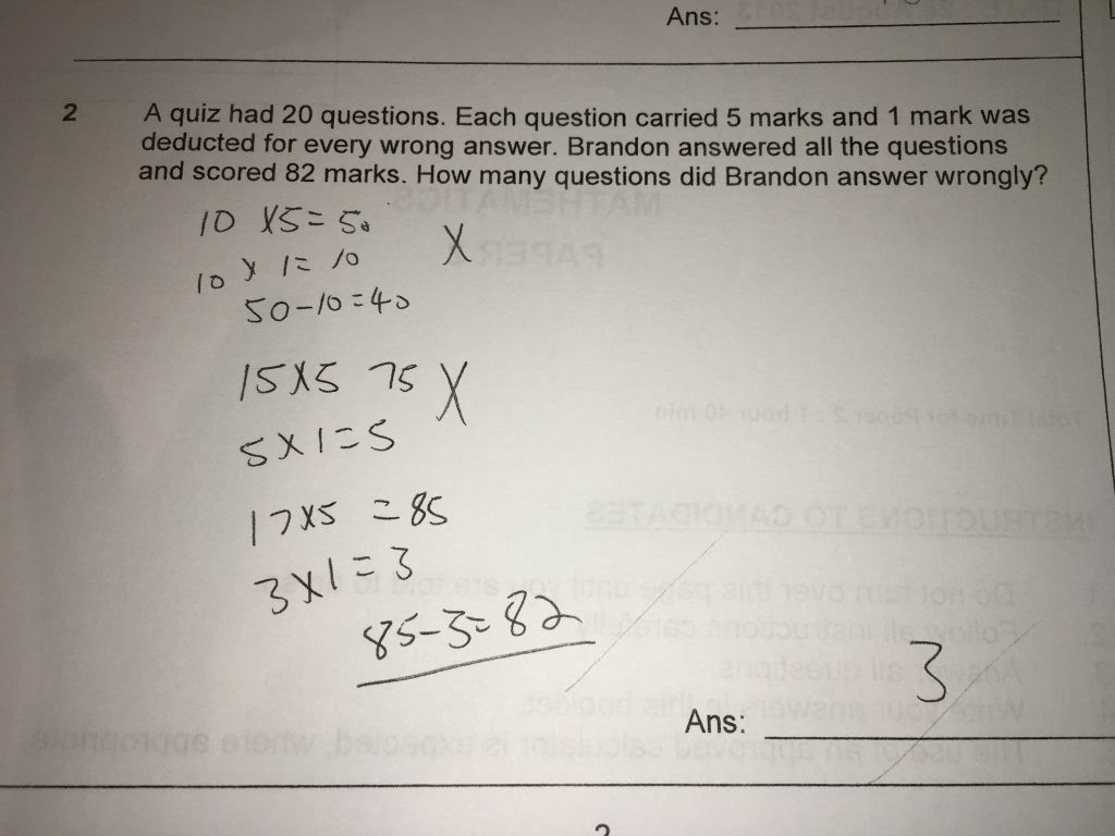 P5 Problem Sums Exam Strategies For My Girls | Learning ...