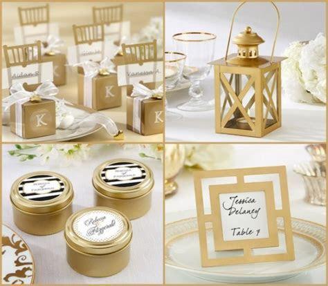 Wedding Favors: Modern Design Of Wedding Reception Table