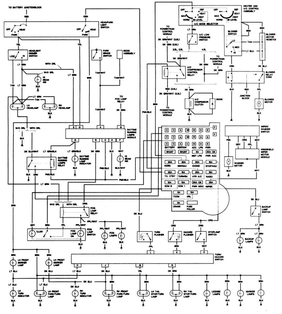 1992 S10 Pickup Wiring Diagram