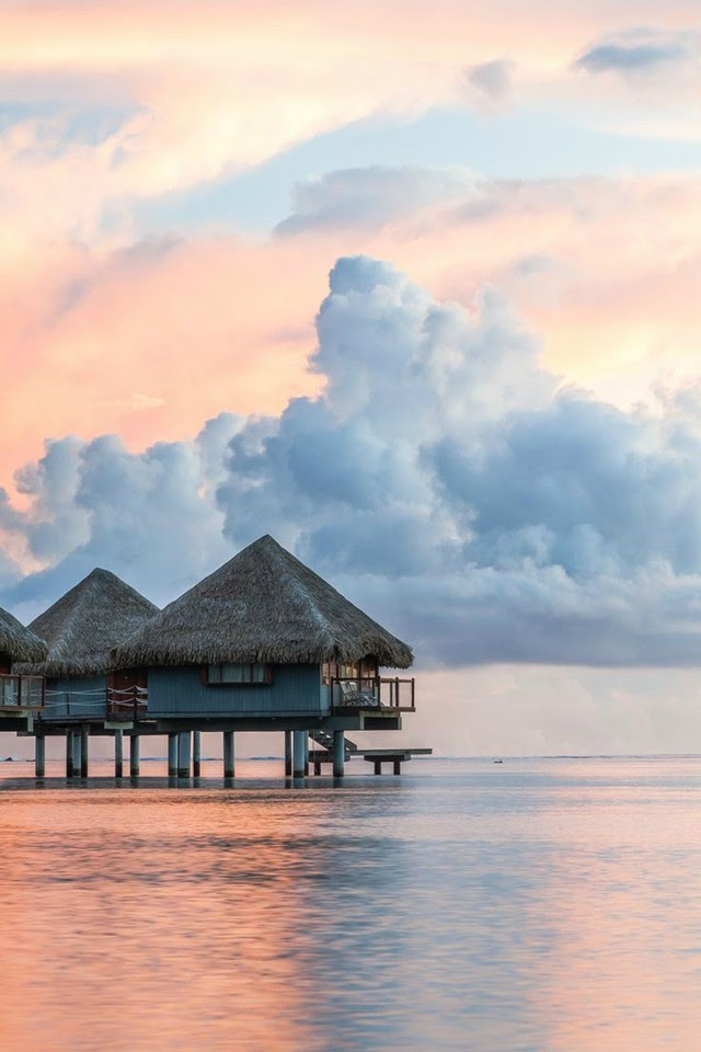 tahiti french polynesia dreamy sunset wallpaper background iphone wonderful blog post fashion blogger turn it inside out belgium