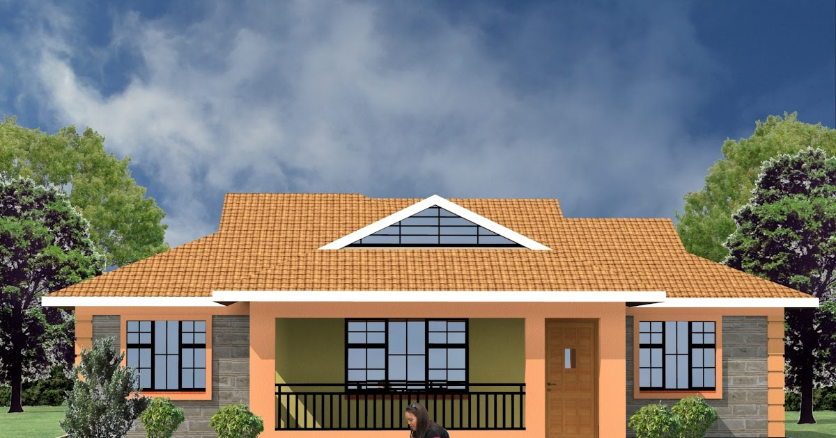 31 Simple House Plan In Kenya, Modern 3 Bedroom House Plans In Kenya