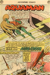 Adventure #249 Aquaman Splash Page
