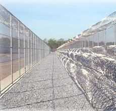 Fences of a Federal Prison in the U.S.