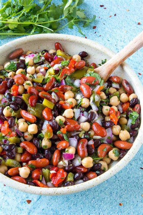 mikes zesty  bean salad chili pepper madness
