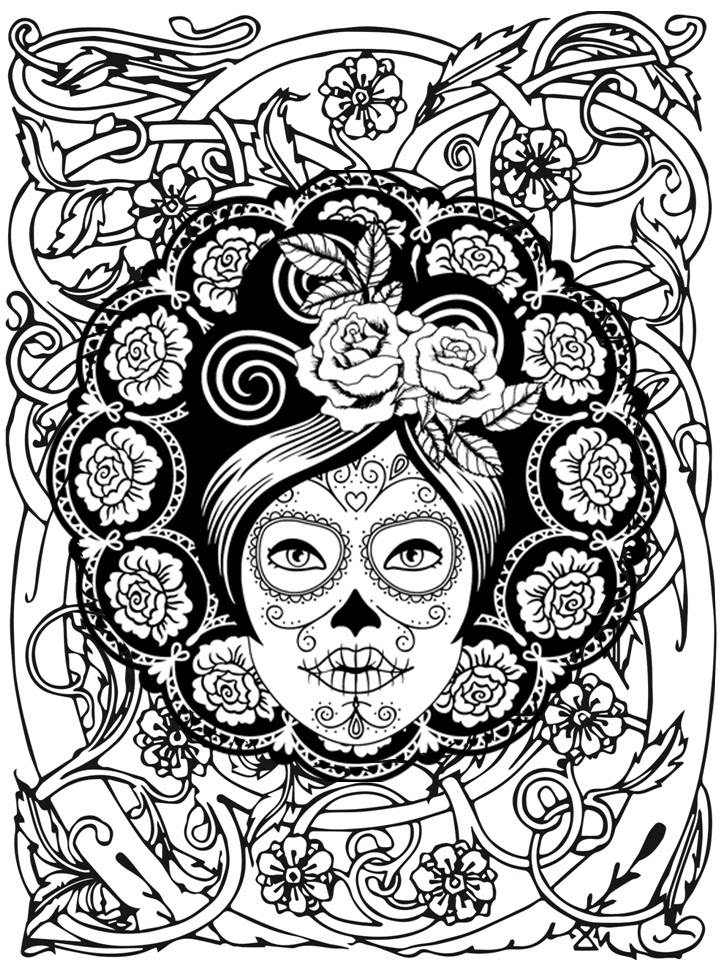 Catrina Coloring Pages At Getdrawingscom Free For Personal Use