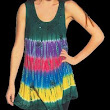 RETRO Hippie Bohemian Gypsy Indian Embroidered Festival Tie Dye Shirt Top 4621
