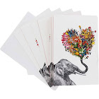 TreeFree Greetings Love Elephant Eco Note Cards 12 Count
