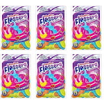 Plackers Kids Dual Gripz Dental Flossers with Fluoride, Fruit Smoothie Flavored, 75 Count (Pack of 6)