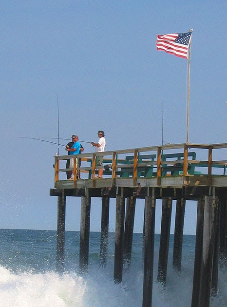 Twists and turns fishing off the pier ocean grove new for Surf city fishing pier