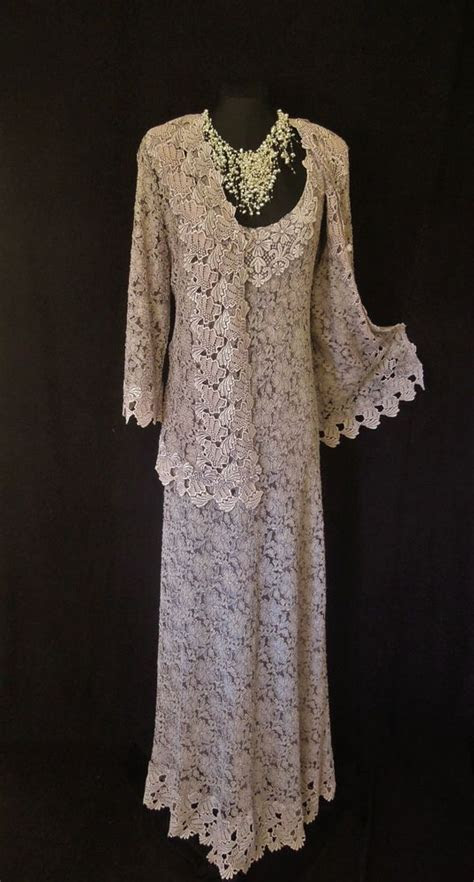 ANN BALON Wedding Outfit Size 14 16 Lace Dress and Jacket