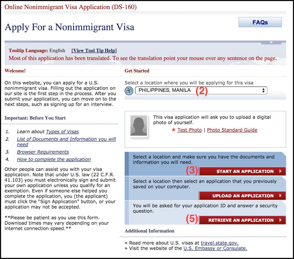 Us Tourist Visa Application Form Ds 160 File Type Ebook