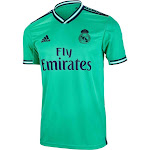 adidas Men's Real Madrid 3rd Jersey | EH5128 | Size Adult Small | Hi-Res Green / Night Indigo