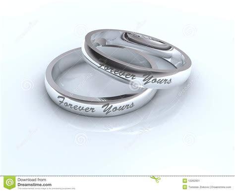 Silver wedding rings stock illustration. Illustration of