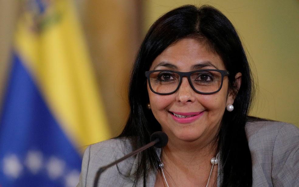 A ministra de Relações Exteriores da Venezuela, Delcy Rodríguez, em foto de 15 de fevereiro (Foto: Reuters/Marco Bello)