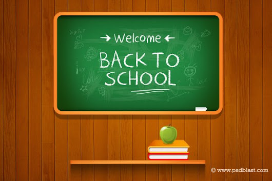 Vector Back to school Background (PSD) - 365psd