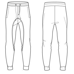 Pantalones Hombres Patrones Industriales De Moda