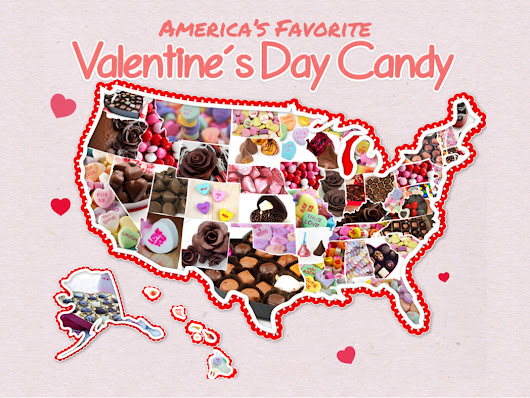 America's Favorite Valentine's Day Candy, by State