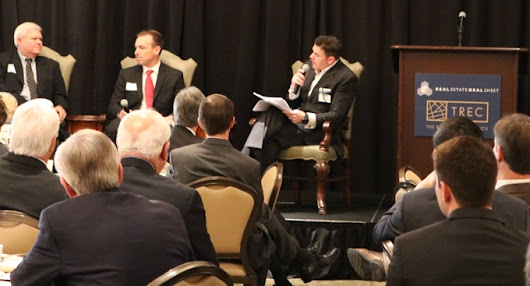 ERIC BEICHLER, MANAGING PRINCIPAL OF MOHR PARTNERS, SERVED AS THE MODERATOR AT THE REAL ESTATE COUNCIL (TREC) AND REAL ESTATE DEAL SHEET'S NETWORKING EVENT - Mohr Partners, Inc. | Global Corporate Real Estate Advisors