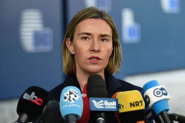 La chef de la diplomatie européenne, Federica Mogherini,... (AFP)