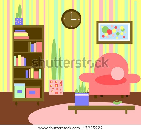 Abstract Graphic Living Room Kids Style Stock Photo 17925922 ...