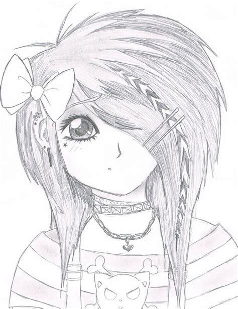 emo drawings emo scene gurl  kattify