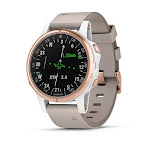 Garmin D2 Delta S Aviator Watch with Beige Leather Band (42MM Case) by PilotMall.com