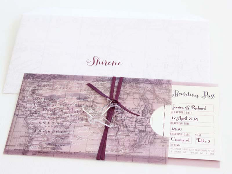 K'Mich Weddings - wedding planning - Boarding Invitation Pass - Secret Diary