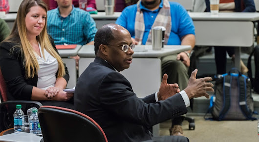 TIAA CEO speaks with Boston College MBA students