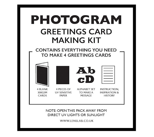 Cyanotype Photogram Greeting Card Making Kit: 4 pack