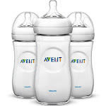 Avent Natural Baby Bottle, Clear, 11 oz - 3 count