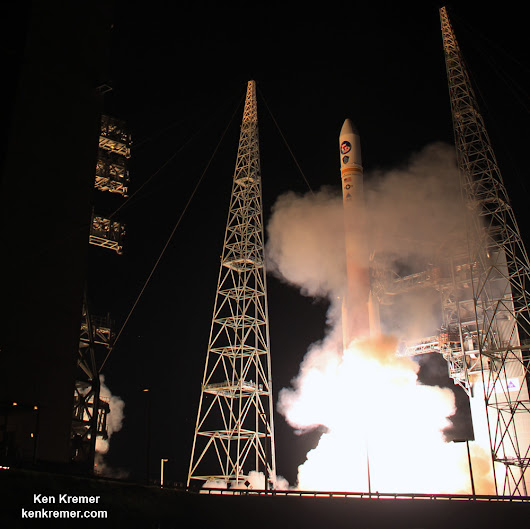Nighttime Delta IV Blastoff Powers Military Comsat to Orbit for U.S. Allies: Photo/Video Gallery - Universe Today