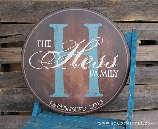 Don't Know What To Get Them? How About A Personalized Family Name Sign?